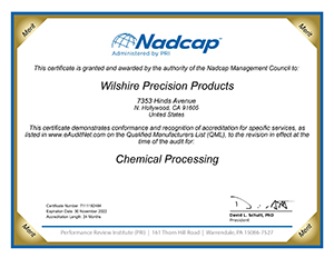 nadcap accredited for chemical processing certificate
